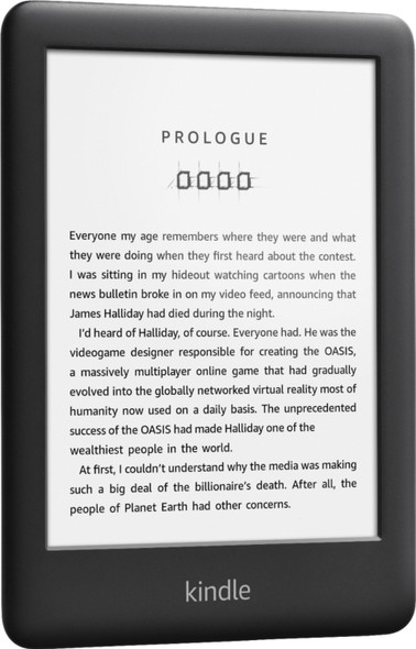 """Amazon - All-New Kindle - 6"""" Touch Display 167PPI - 8GB RAM - WIFI - Built in Light -Black"""