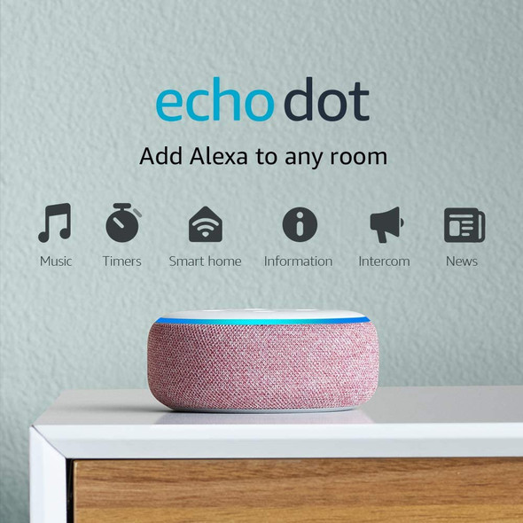 Echo Dot (3rd Gen) - Smart speaker with Alexa - PLUM (840080563794)