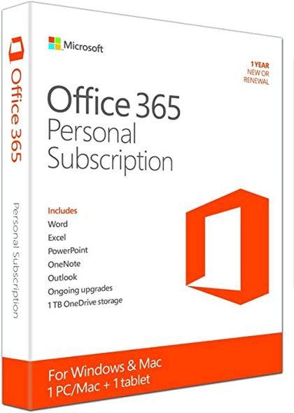 Microsoft Office 365 Personal 1 Year Subscription w/ Norton Security Deluxe for 5 Devices