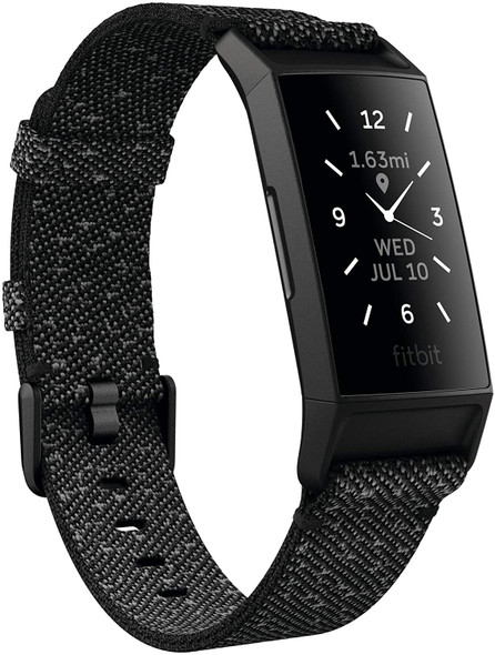 Fitbit Charge 4 Special Edition Fitness and Activity Tracker with Built-in GPS, Heart Rate, Sleep & Swim Tracking, Black/Granite Reflective (811138038694)
