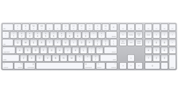 Apple Magic Wireless Keyboard with Numeric Keypad ( Silver ) MQ052AB/A