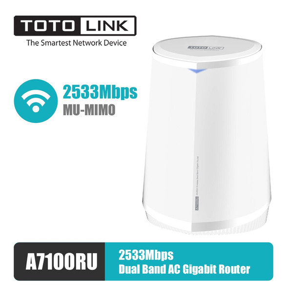 Totolink A7100RU | WiFi Router | AC2600, Dual Band, MU-MIMO, 3x RJ45 1000Mb/s, 1x USB (6952887401866)