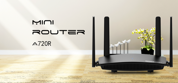 TOTOLINK A720R AC1200 WIFI Router Full Gigabit Port 2.4GHz/5GHz wifi Repeater 4*6dBi External Antennas support IPTV (6952887470138)