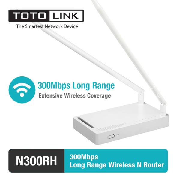 TOTOLINK N300RH 300Mbps Long Range 2*11 dBi Antenna Wi-Fi Router (6952887401149)
