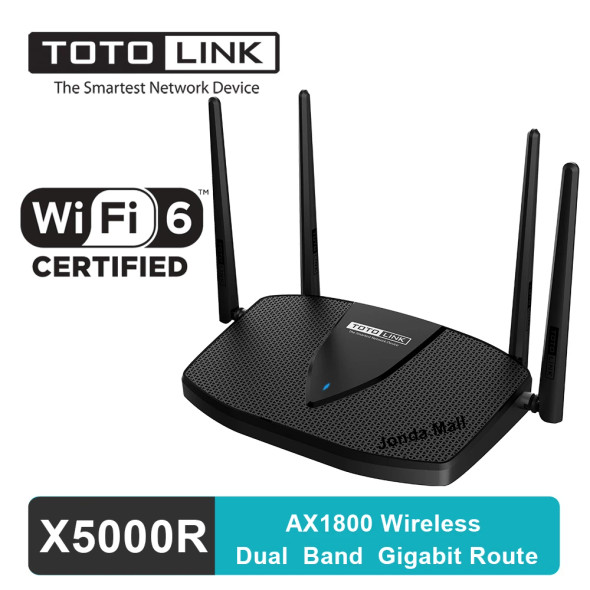 Totolink X5000R | WiFi Router | AX1800 Dual Band, 5x RJ45 1000Mb/s (6952887470206)