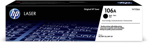 HP 106A Black Laser Toner Cartrid Cartridge, W1106A (Cartridge) - Original HP Products