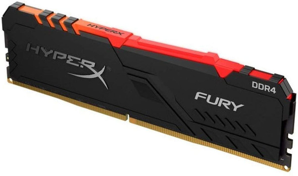 HyperX Fury 8GB 3200MHz DDR4 CL16 DIMM 1Rx8 RGB XMP Desktop Memory Single Stick HX432C16FB3A/8