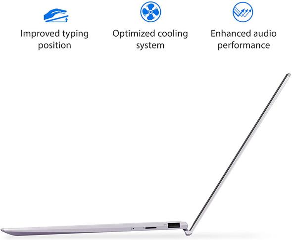 "ASUS ZenBook 13 Ultra-Slim Laptop 13.3"" Full HD NanoEdge Bezel Display, Intel Core i5-1035G1 Processor, 8GB RAM, 256GB PCIe SSD, NumberPad, Windows 10 Home, Lilac Mist, UX325JA-AB51 (10002012)"