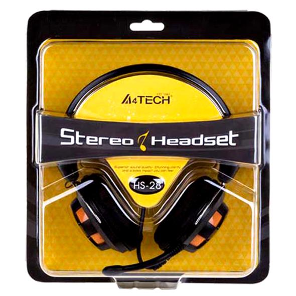 A4Tech HS-28 ComfortFit Stereo Headset, Black