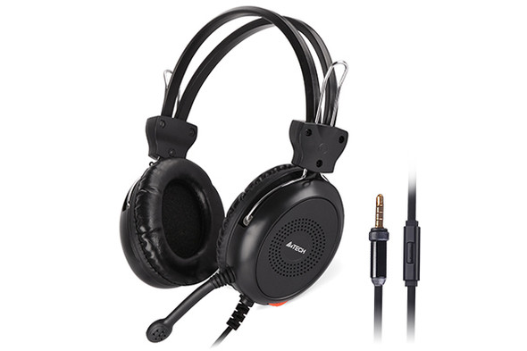 A4tech HS30I Comfort Fit Stereo Wired Headset Black