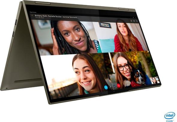 "Lenovo - Yoga 7i 2-in-1 15.6"" Touch Screen Laptop - Intel Evo Platform Core i7 - 12GB Memory - 512GB Solid State Drive - Dark Moss Model:82BJ0003US (AC1LPM01)"