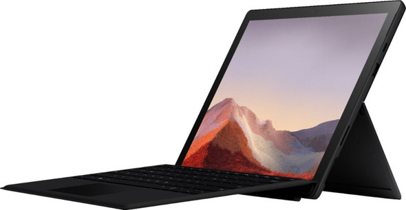"Microsoft - Surface Pro 7 - 12.3"" Touch Screen - Intel Core i5 - 8GB Memory - 256GB SSD with Black Type Cover (Latest Model) - Matte Black 