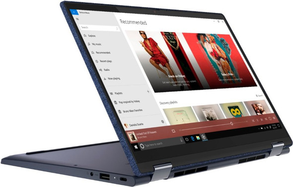 """Lenovo Yoga Yoga 6 13ARE05 2-in-1 13.3"""" Touch Screen Laptop - AMD Ryzen 5 - 8GB Memory - 256GB SSD - Abyss Blue Fabric Cover