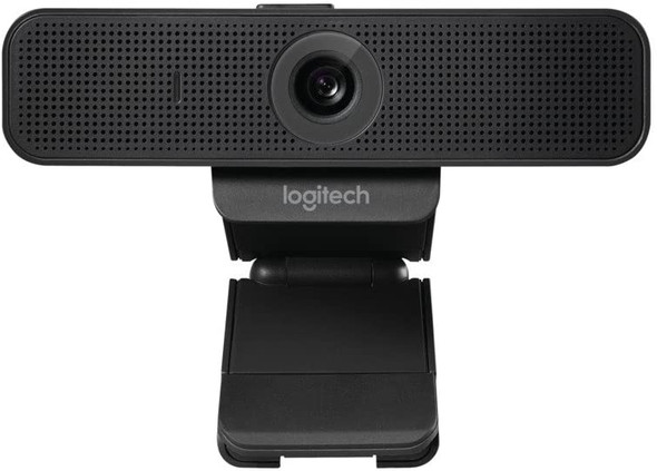 Logitech C925-e Webcam with HD Video and Built-In Stereo Microphones - Black.