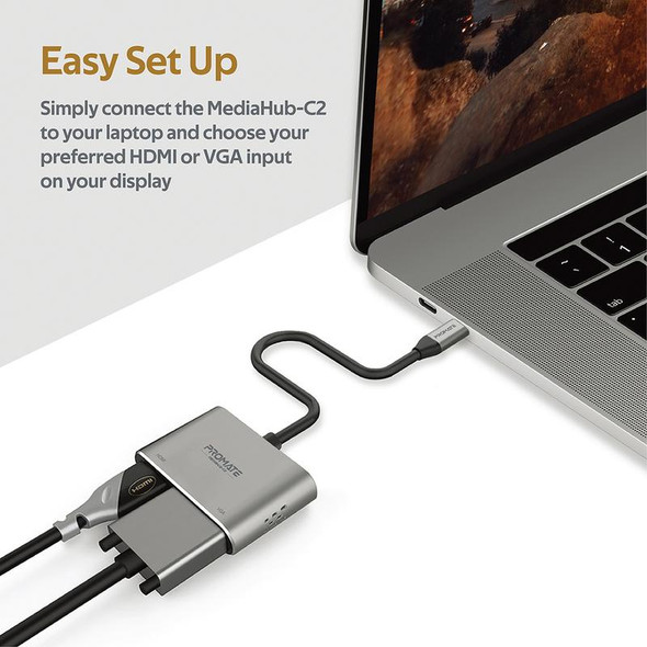 PROMATE High Definition USB-C Display Adapter   MediaLink-H1 (6959144052748)