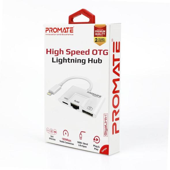 PROMATE PROMATE 3-in-1 High Speed OTG Lightning Hub | GigaLink-i (6959144044705)