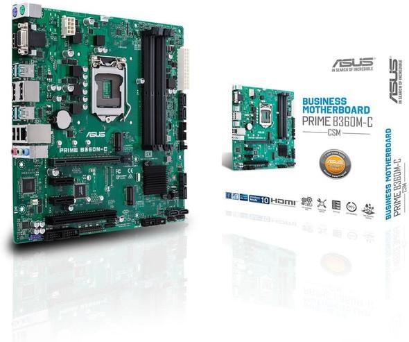 ASUS Prime B360M-C/CSM LGA1151 (300 Series) DDR4 DP HDMI VGA M.2 mATX Motherboard