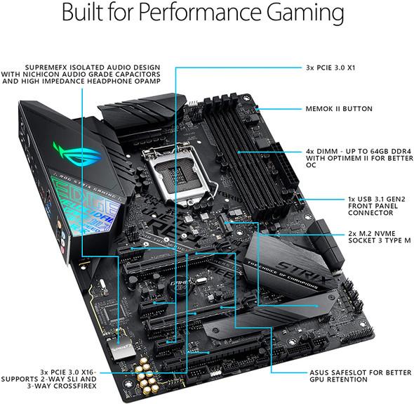 ASUS ROG Strix Z390-F Gaming Motherboard LGA1151 (Intel 8th and 9th Gen) ATX DDR4 DP HDMI M.2 USB 3.1 Gen2 Gigabit LAN