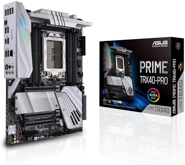 Asus Prime TRX40-PRO AMD 3rd Gen Ryzen Threadripper Strx4 ATX Motherboard with DDR4, M.2, USB 3.2 Gen2, Type-C Front Panel Connector
