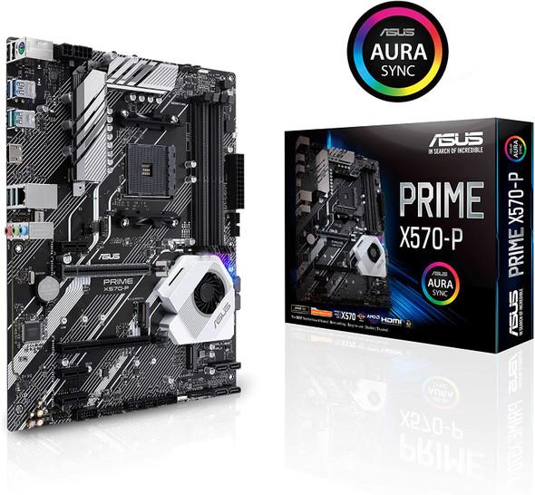 Asus Prime X570-P Ryzen 3 AM4 with PCIe Gen4, Dual M.2 HDMI, SATA 6GB/s USB 3.2 Gen 2 ATX Motherboard