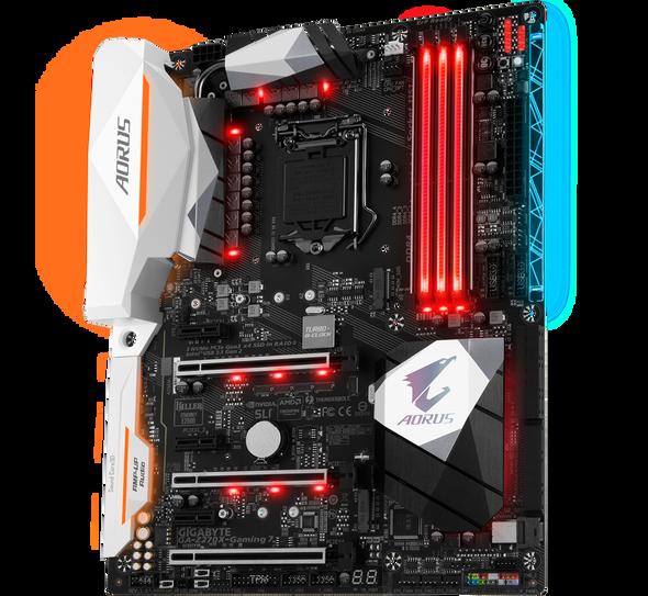 GIGABYTE AORUS GA-Z270X-Gaming 7 (rev. 1.0) LGA 1151 Intel Z270 HDMI SATA 6Gb/s USB 3.1 ATX Motherboards - Intel