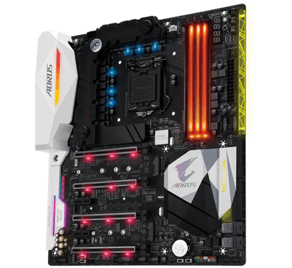 GIGABYTE Aorus GA-Z270X-Gaming 9 (rev. 1.0) LGA 1151 Intel Z270 HDMI SATA 6Gb/s USB 3.1 Extended ATX Motherboards - Intel