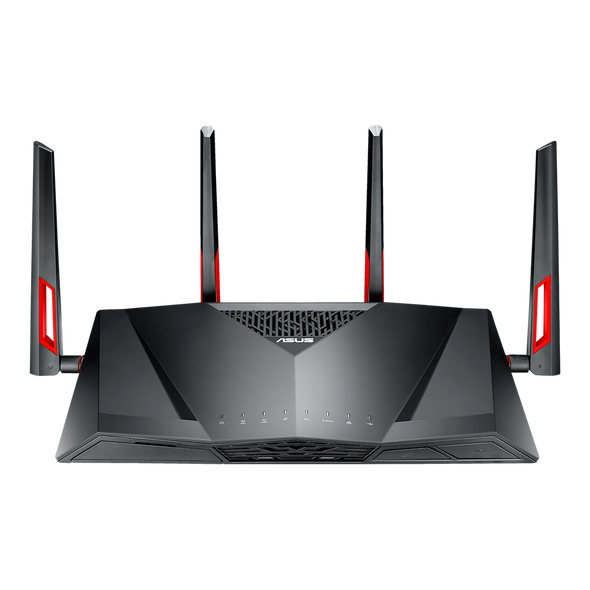 ASUS RT-AC88U Dual-band (2.4 GHz / 5 GHz) Gigabit Ethernet Black,Red 3G 4G