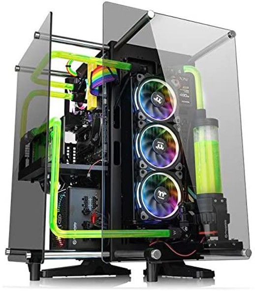 Thermaltake Core P90 Tempered Glass Edition ATX Mid Tower Open Frame 2-Sided Glass Viewing, Tt LCS Certified Gaming Computer Case Chassis, CA-1J8-00M1WN-00