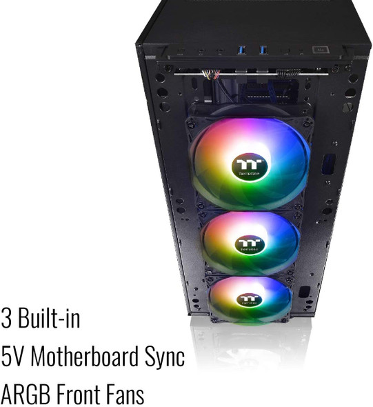 Thermaltake Level 20 MT Motherboard Sync ARGB ATX Mid Tower Gaming Computer Case with 3 120mm ARGB 5V Motherboard Sync RGB Fans +1 120mm Rear Fan Pre-Installed CA-1M7-00M1WN-00