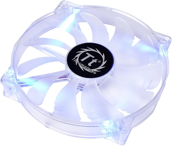 Thermaltake 200mm Pure 20 Series Blue LED Quiet High Airflow High Performance Easy to Install Case Fan CL-F016-PL20BU-A