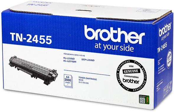 Brother Genuine 3,000 pages Super High Yield Black Ink Printer Toner Cartridge (HL-L2535D, DCP-L2535D) | TN-2455