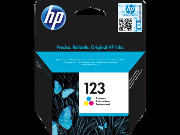 HP 123 Tri-color Original Ink Cartridge (F6V16AE)