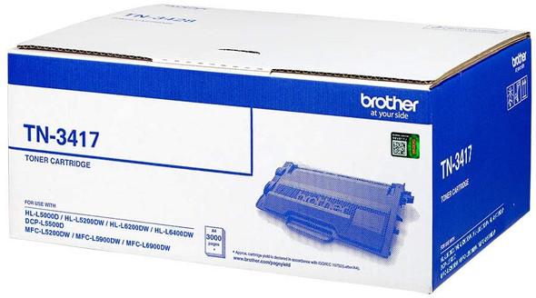 Brother Genuine Standard Yield Black Ink Printer 3000 pages Toner Cartridge (HL-L6200DW, HL-L6400DW, MFC-L5755DW, MFC-L6900DW) | TN-3417