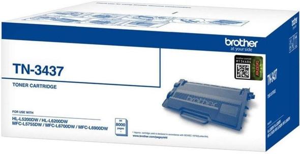 Brother High Capacity 8000 Pages Toner Cartridge (HL-L6200DW, HL-L6400DW, MFC-L5755DW, MFC-L6900DW) | TN-3437