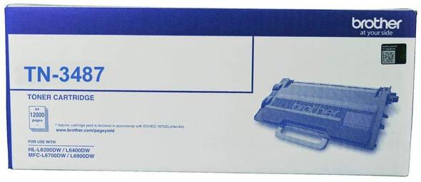 Brother High Capacity 12000 Pages Toner Cartridge (HL-L6400DWMFC-L6900DW) | TN-3487