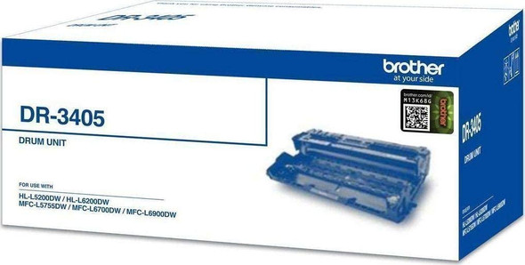 Brother Drum ( HL-L6200DW, HL-L6400DW, MFC-L5755DW, MFC-L6900DW)/50K (3 pages/Job)   DR-3405