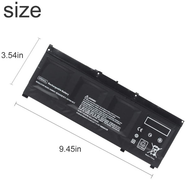 SR04XL Replacement Battery Compatible with HP Laptops , Omen 15-ce000 15-ce000ng 15-ce002n Pavilion Power 15t-cb2000 917678-1B1 917724-855 TPN-Q193 HSTNN-IB7Z (AC1LBH56)