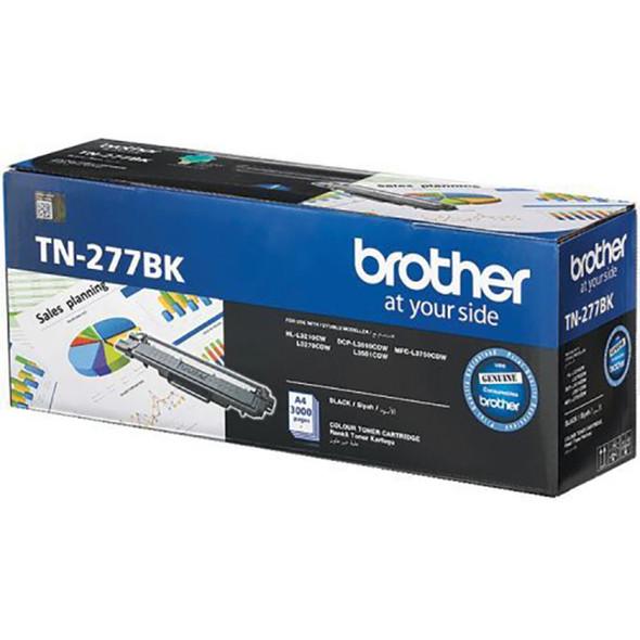 Brother 3,000 pages Black toner (DCP-L3510DW,DCP-L3551DW, MFC-L3750CDW) | TN-277BK