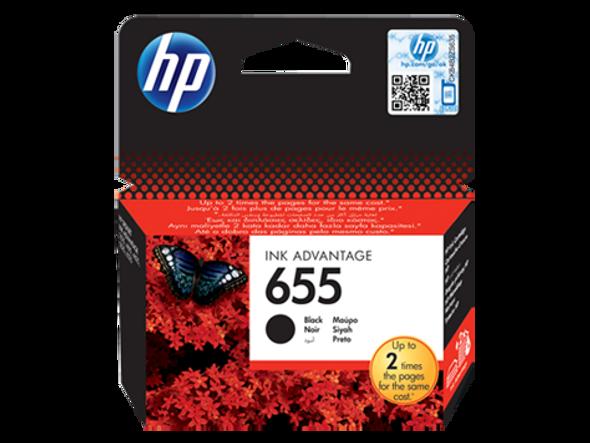 HP 655 Black Original Ink Advantage Cartridge (CZ109AE)