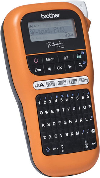 Brother PT-E110VP Handheld Electrician Label Printer, PTE110VPZW1 (Electrician Label Printer Nordic Version) (BPT20014)