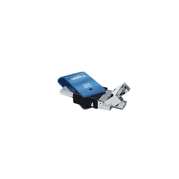 Addlink Flash DriveT80 32GB 3in1(TypeC+Micro USB+USB 3.1)Blue | ad32GBT80B3