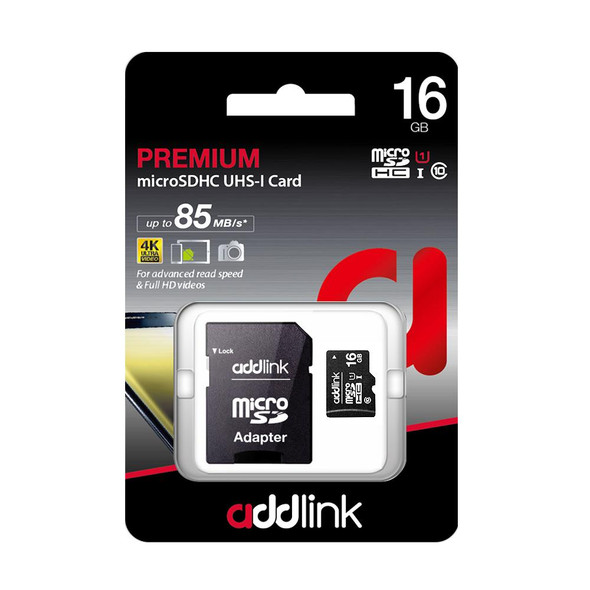 Addlink 16GB microSD UHS-I (Class 10+Adapter) | ad16GBMSH310A