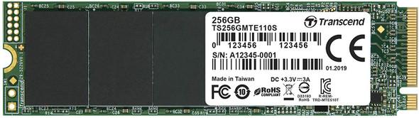 Transcend SSD M.2 2280 PCIe NVMe 256GB, Gen3 | TS256GMTE110S