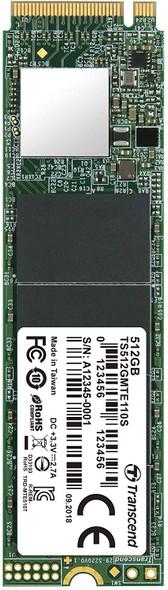 Transcend SSD M.2 2280 PCIe NVMe 512GB, Gen3 | TS512GMTE110S