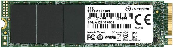 Transcend 1TB NVMe PCIe Gen3 x4 M.2 SSD | TS1TMTE110S