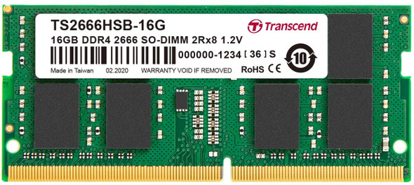 Transcend 16GB DDR4 2666 SO-DIMM 2Rx8 1.2V (TS2666HSB-16G)