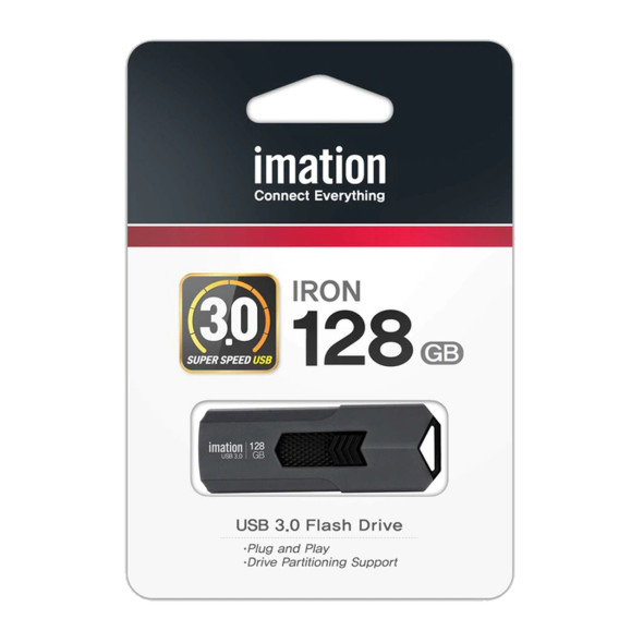 """Imation Corp - Ironkey 128Gb Workspace Usb 3.0 Flash Drive - 128 Gb - Rugged Design, Password Protection, Encryption Support, Bootable, Water Proof """"Product Category: Storage Drives/Flash Drives"""""""