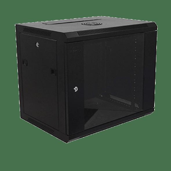 Eussonet Wall Mount Cabinet 9U Dimensions W600*D600 Door Type Front Glass – Rear Metal 1 Cooling Fan | MS-EWM6609B