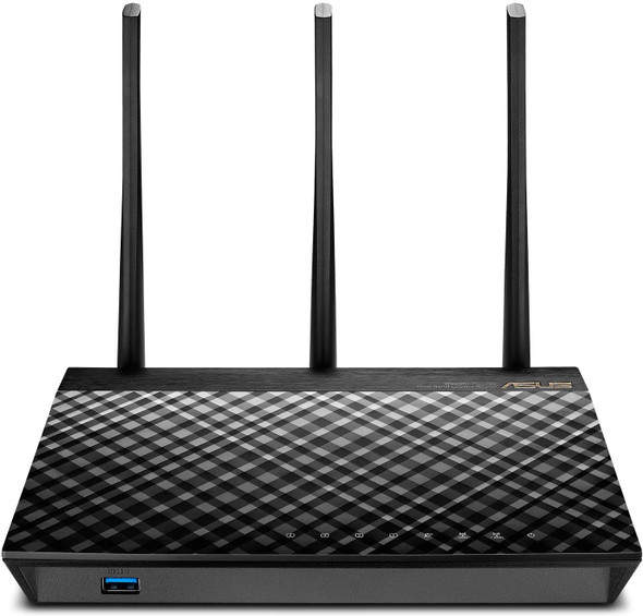 SUS AC1750 WiFi Router (RT-AC66U B1) - Dual Band Gigabit Wireless Internet Router, ASUSWRT, Gaming & Streaming, AiMesh Compatible, Included Lifetime Internet Security, Adaptive QoS, Parental Control