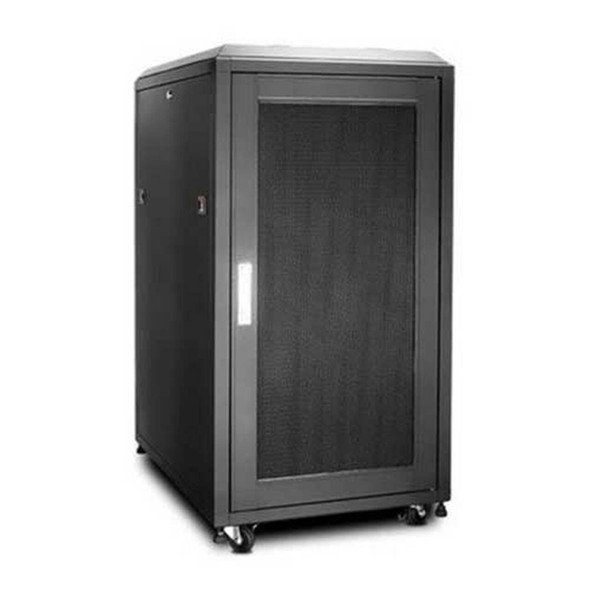 Eusso Server Cabinet 22U W600*D800 Door Type Front Glass-Rear Perforated 4 Cooling Fans + 1 Fixed Shelf | MS-EJS6822-GP